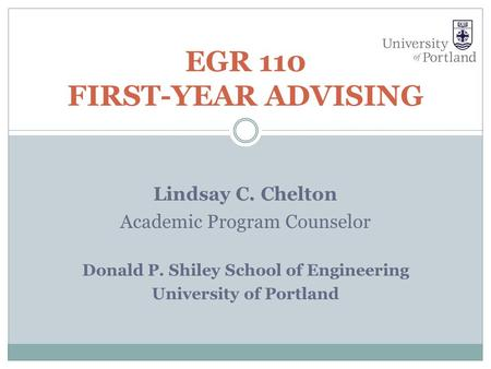 EGR 110 First-Year Advising
