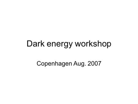 Dark energy workshop Copenhagen Aug. 2007. Why the SNLS ? Questions to be addressed: -Can the intrinsic scatter in the Hubble diagram be further reduced?