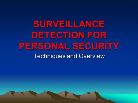 fundamentals of physical surveillance pdf
