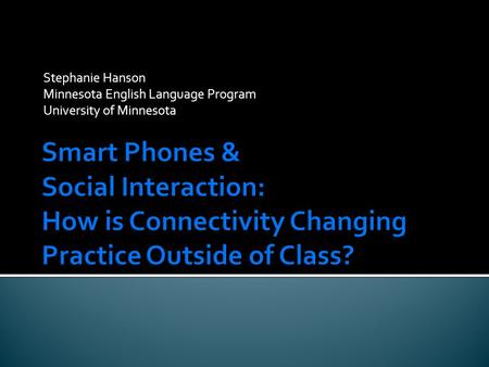 Stephanie Hanson Minnesota English Language Program