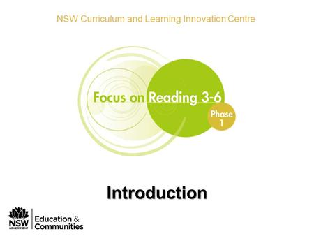 Phase 1 Module 1 Introduction NSW Curriculum and Learning Innovation Centre Introduction.