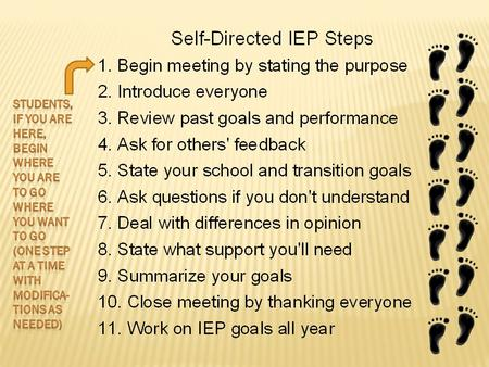  Hi, I am ________________________.  Welcome to my IEP meeting.  My disability is _____________________________, and it affects my education in the.