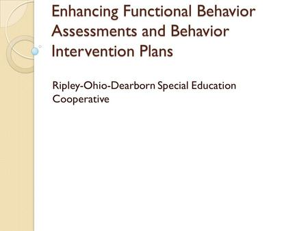 Ripley-Ohio-Dearborn Special Education Cooperative
