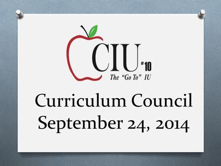 Curriculum Council September 24, 2014. Welcome & Introductions.