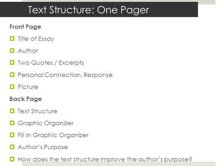 text response essay structure - steel