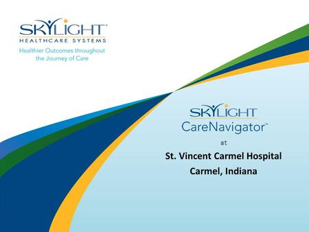 At St. Vincent Carmel Hospital Carmel, Indiana. Main Menu Cable TV, Movies, Games, Internet Patient Education Video Library Contact EVS, Food Service,