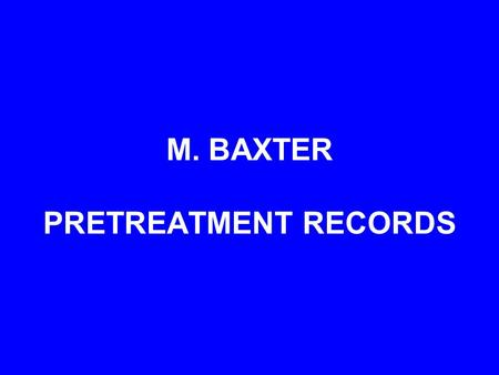 "M. BAXTER PRETREATMENT RECORDS. This thirteen year old female patient has ""reasonable"" facial esthetics, but a significant Class II occlusion and an anterior."