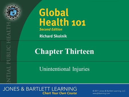 Chapter Thirteen Unintentional Injuries. The Importance of Unintentional Injuries Among the single leading causes of death and DALYs lost worldwide 6%