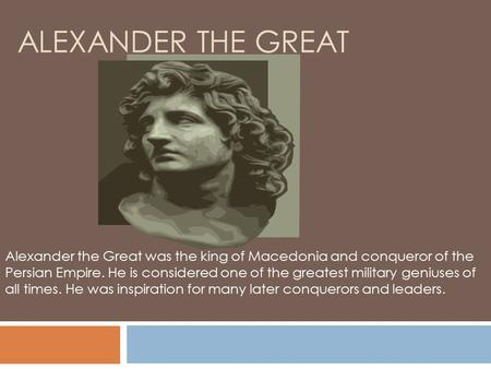 the biography of the king of acquisitions and mergers alexander the great The acquisition was interpreted by some as a direct attempt to challenge walmart's traditional retail stores contents on august 23, 2017, it was reported that the federal trade.
