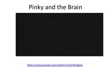 Pinky and the Brain http://www.youtube.com/watch?v=Li5nMsXg1Lk.