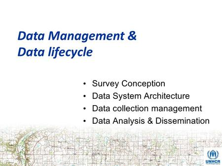 Data lifecycle Data Management & Survey Conception