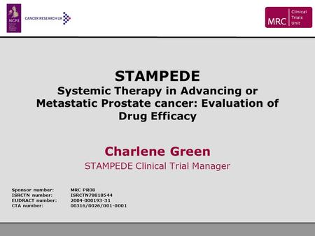 Charlene Green STAMPEDE Clinical Trial Manager