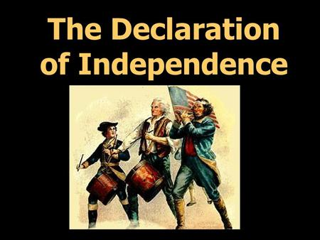 The Declaration of Independence. Oklahoma students join together in November to celebrate our freedoms!