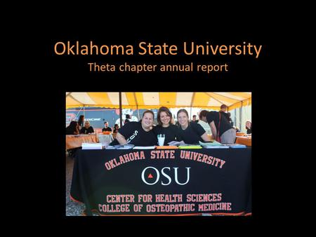 Oklahoma State University Theta chapter annual report.
