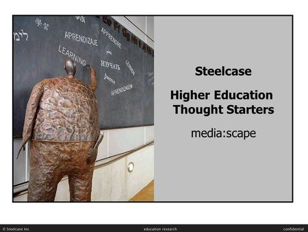 Steelcase Higher Education Thought Starters media:scape.