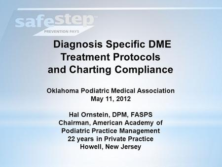 Diagnosis Specific DME