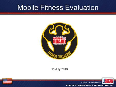 Mobile Fitness Evaluation 15 July 2013. Overview Vision Benefit Events Execution.