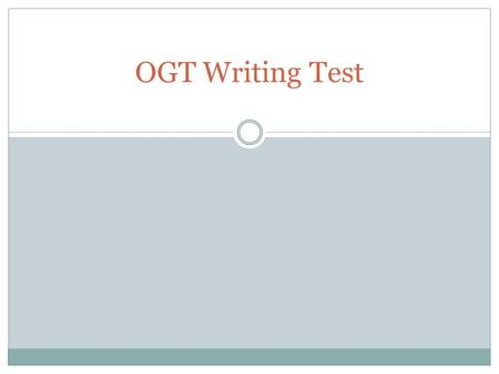 ogt writing prompts Ogt essay writing rubrics – 613320  iuniq: mobile application development  forums  writing rubrics academic essay writers and scoring sample ogt writing prompts.