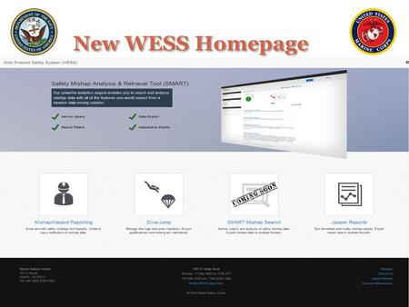 New WESS Homepage. Takes Customer to SPARC Page Takes Customer to DJRS New WESS Homepage.
