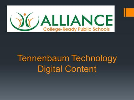 Tennenbaum Technology Digital Content. Ed Elements Single Sign-On Education Eelements' Hybrid Learning Management System (HLMS)provides the platform for.
