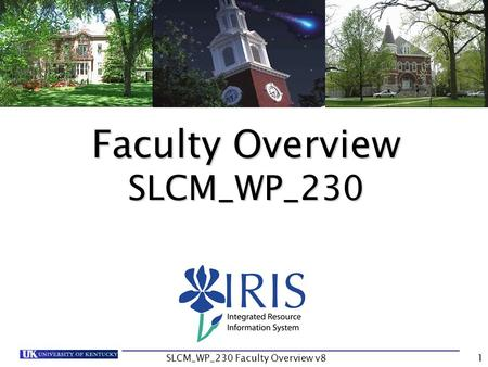 SLCM_WP_230 Faculty Overview v81 Faculty Overview SLCM_WP_230.