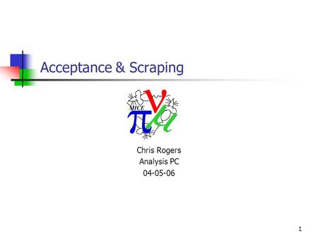 1 Acceptance & Scraping Chris Rogers Analysis PC 04-05-06.