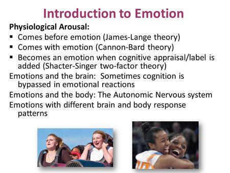 Introduction to Emotion