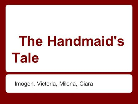 an analysis of the narrator offred in the handmaids tale by margaret atwood Online study guide for the handmaid's tale:  the handmaid's tale: a level york notes margaret atwood overview  offred the self-conscious narrator.
