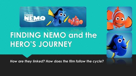 "english  in the movie ""finding nemo"" the hero is marlin  finding nemo and the hero s journey"