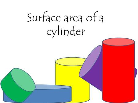 Surface area of a cylinder. How to find the total surface area of a cylinder 10m 25m SA = 2  r² + 2  rh or 2  r(r + h) = 2 = 700 Use 3.14 for  = 700.