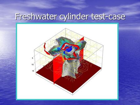 Freshwater cylinder test-case. Objectives To compare with Tartinville et al. 94 results of a similar test-case To compare with Tartinville et al. 94 results.