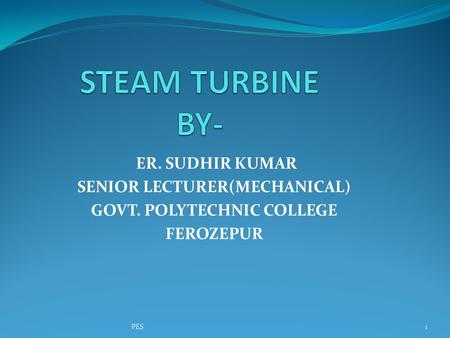SENIOR LECTURER(MECHANICAL) GOVT. POLYTECHNIC COLLEGE