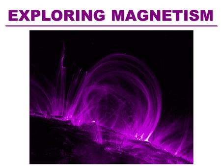 EXPLORING MAGNETISM. What is a Magnet? What Materials are Magnetic?
