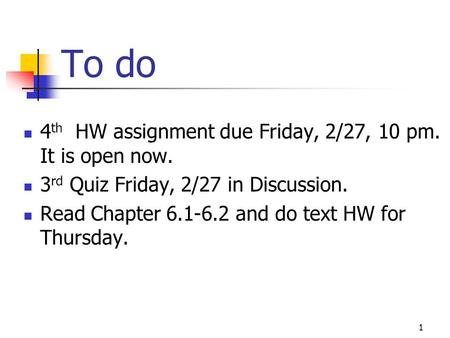 hw assignment