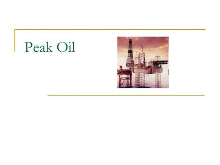 Peak Oil. This is a complicated and a difficult question facing humanity, few people are aware of the role oil plays in our lives, here are uses and applications: