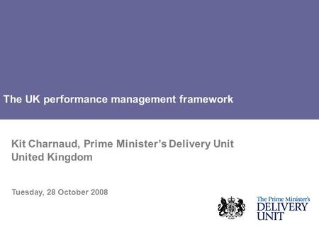 The UK performance management framework