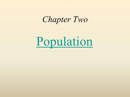 Chapter Two Population. Distribution of World Population Population concentrations –The four largest population clusters [East Asia, South Asia, Southeast.