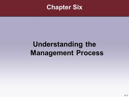 Understanding the Management Process