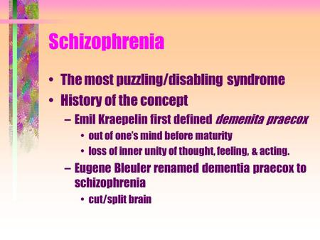 schizophrenia defined Review definition and description of schizophrenia in the dsm-5 rajiv tandona,⁎, wolfgang gaebelb, deanna m barchc,d,e, juan bustillof, raquel e gurg,h,i.