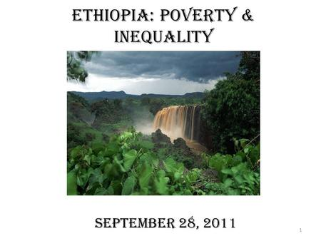 Ethiopia: Poverty & Inequality