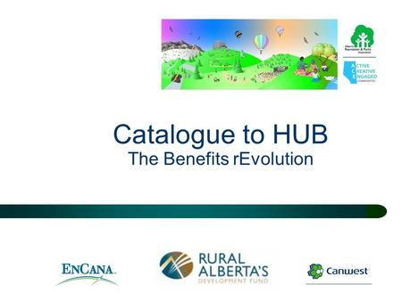 "Catalogue to HUB The Benefits rEvolution. The Benefits Movement Purpose of this presentation  To introduce the next evolution of the ""Benefits Catalogue"""