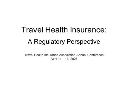 Non Insured Health Benefits Medical Travel