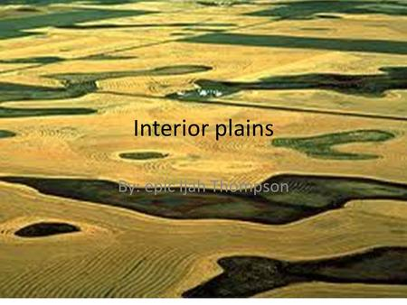 Interior plains By: epic Ijah Thompson.