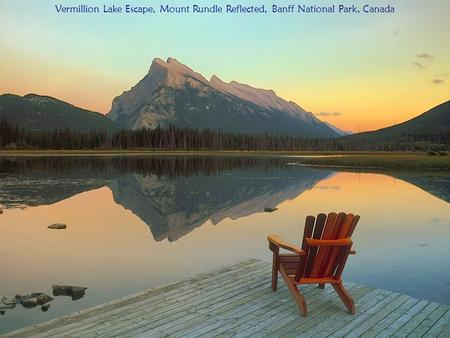 Vermillion Lake Escape, Mount Rundle Reflected, Banff National Park, Canada.
