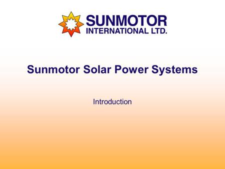 Sunmotor Solar Power Systems Introduction. Solar Power Made Simple Photovoltaic solar panels produce direct current (dc power) when the sun hits the face.