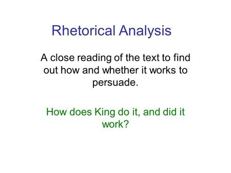 rhetorical analysis of non fiction