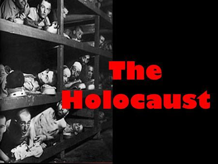 The Holocaust. WHO Jews Gypsies Poles Communists Handicapped (mentally & physically) Disfigured Non-German Everything HITLER was!