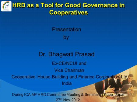 HRD as a Tool for Good Governance in Cooperatives
