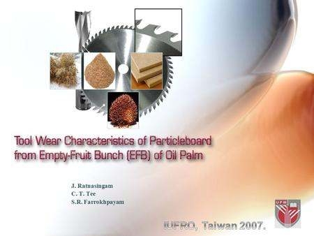 J. Ratnasingam C. T. Tee S.R. Farrokhpayam. Introduction Oil palm (Elaeis guineensis) is one the most important plantation tree crops in Malaysia and.
