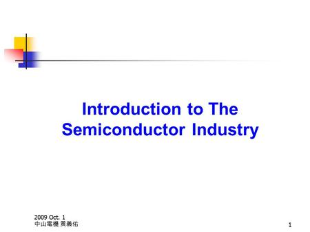 Introduction of chartered semiconductor mfg